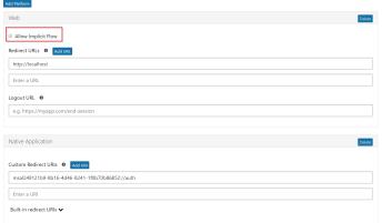 Configure API