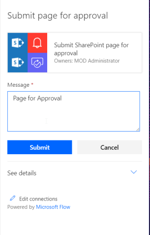Submit Page for Approval