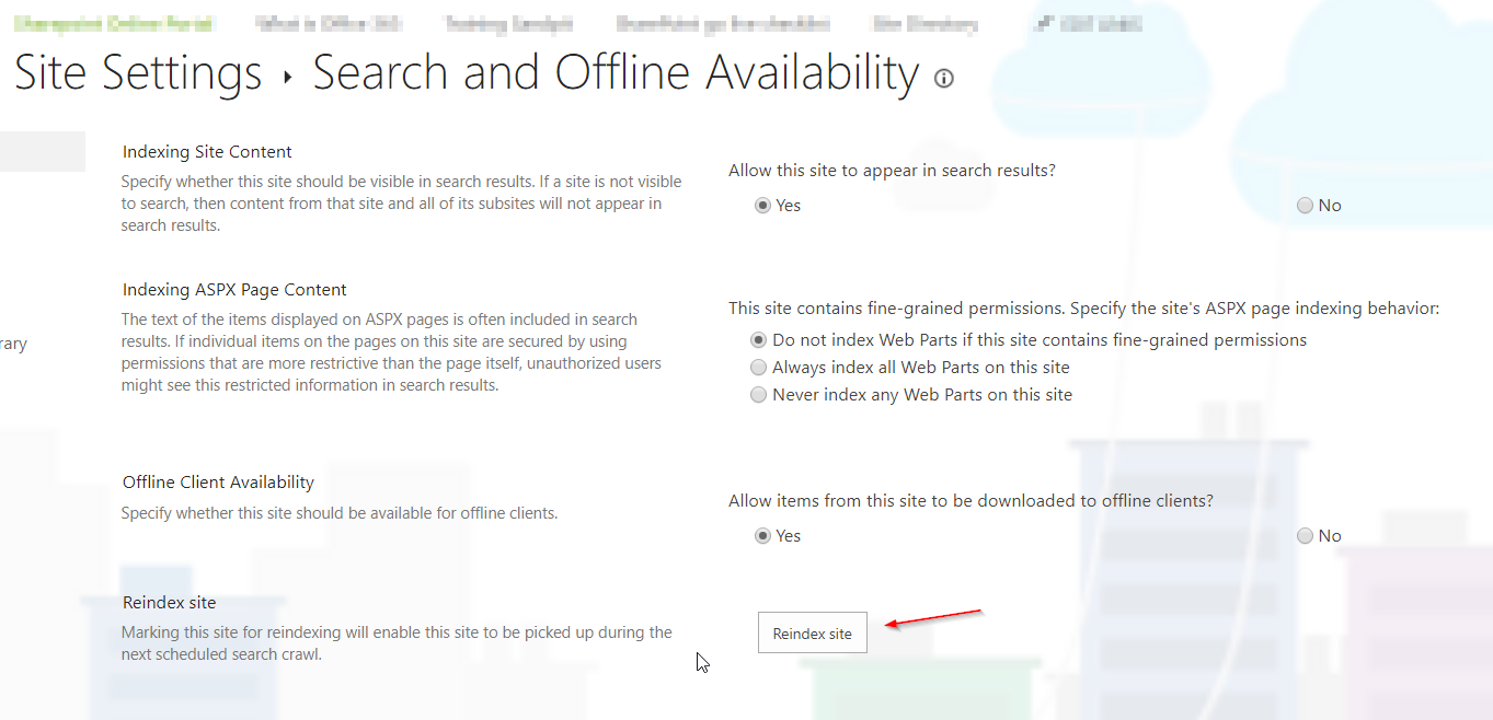 Search and Offline Availability