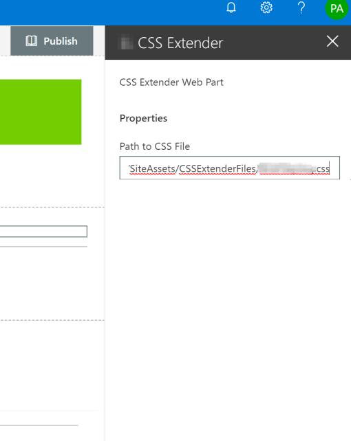 CSSExtenderWebPartProps